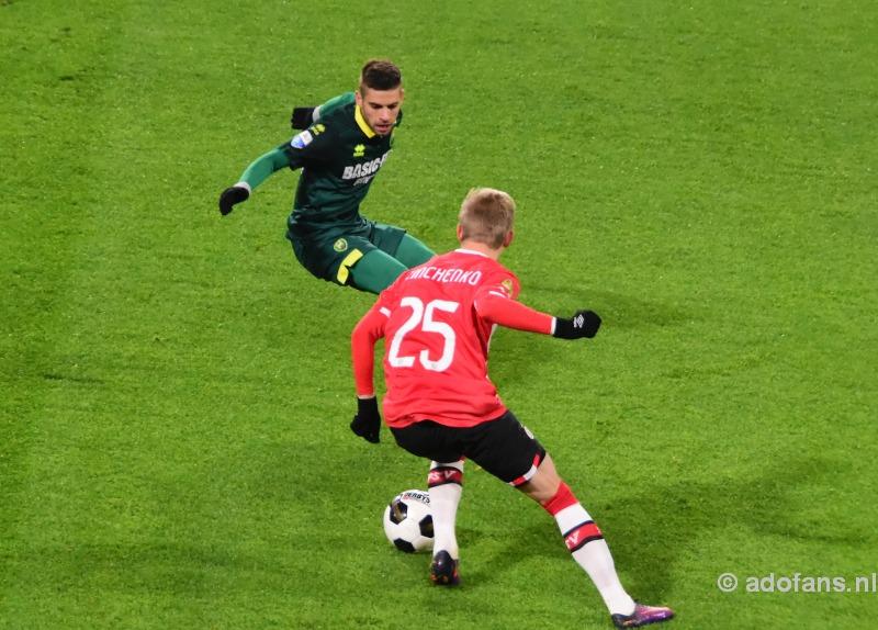Foto`s en verslag: ADO zoals verwacht onderuit tegen PSV: 3-1