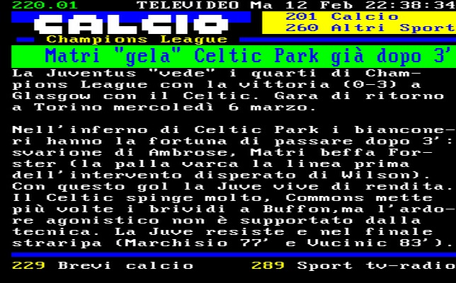 Celtic - Juventus (Champions League)